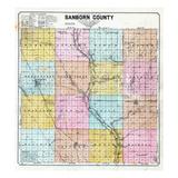 1900  Sanborn County Map  South Dakota  United States
