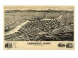 1891  Missoula Bird's Eye View  Montana  United States