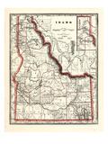 1896  Idaho State Map 24x29  Idaho  United States