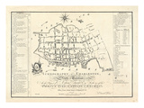 1788  Charleston Ichnography Map  South Carolina  United States