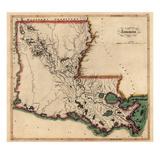 1814  Louisiana State Map  Louisiana  United States