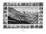 1861  Virginia City Bird's Eye View  Nevada  United States