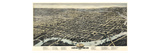 1874  Wilmington Bird's Eye View  Delaware  United States