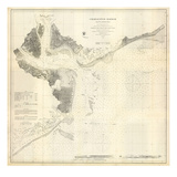 1866  Charleston Harbor Chart South Carolina  South Carolina  United States