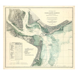 1865  Charleston Harbor Chart South Carolina  South Carolina  United States