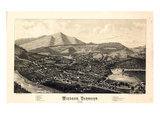 1886  Windsor Bird&#39;s Eye View  Vermont  United States