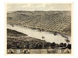 1869  Leavenworth Bird's Eye View  Kansas  United States
