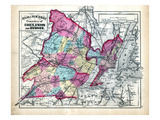 1873  Essex  Union and Hudson Counties Map  New Jersey  United States