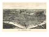 1900  Cincinnati Bird's Eye View  Ohio  United States