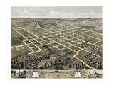 1869  Columbia Bird's Eye View  Missouri  United States