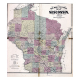 1874  Wisconsin Railroad and Sectional Map  Wisconsin  United States