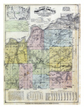 1874  Johnson County Sectional Map  Kansas  United States