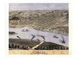 1869  Hannibal Bird's Eye View  Missouri  United States