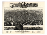 1883  Kalamazoo Bird's Eye View  Michigan  United States