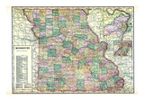 1913  State Map  Missouri  United States