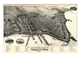1897  Marquette Bird's Eye View  Michigan  United States