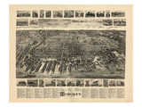 1904  Hoboken Bird's Eye View  New Jersey  United States
