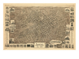 1899  Plainfield Bird's Eye View  New Jersey  United States