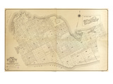 1908  Key West Wall Map from 1829 Maps and Surveys  Florida  United States