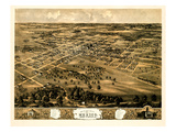 1869  Mexico Bird's Eye View  Missouri  United States