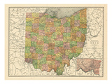 1914  State Map  Ohio  United States