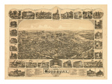 1886  Woodbury Bird's Eye View  New Jersey  United States