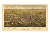 1882  Somerville Bird's Eye View  New Jersey  United States