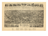 1904  Rutherford Bird's Eye View  New Jersey  United States