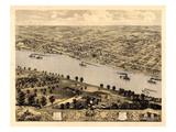 1869  Jefferson City Bird's Eye View  Missouri  United States