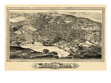 1883  Woburn Bird's Eye View  Massachusetts  United States