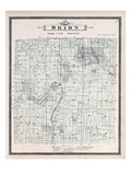 1896, Orion Township, Voorheis Lake, Mahopac, Cole, Lake Judah, Mud Lake, Mill Lake, Michigan, Unit Giclée