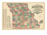 1877  State Map  Missouri  United States