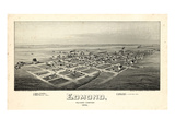 1891  Edmond Bird's Eye View  Oklahoma  United States