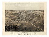 1868  Romeo Bird's Eye View  Michigan  United States