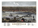 1876  Louisville Bird's Eye View  Kentucky  United States