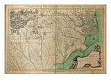 1770  North Carolina State Map with Landowner Names  North Carolina  United States