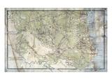 1863  Bertie County Wall Map  North Carolina  United States