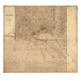1861  1865  Washington DCCivil War  Lines of Defense Wall Map  District of Columbia