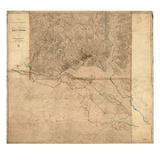 1861  1865  Washington DCCivil War  Lines of Defense Wall Map  District of Columbia