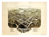 1884  Lyndonville Bird's Eye View  Vermont  United States