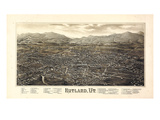 1885  Rutland Bird's Eye View  Vermont  United States