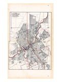 1907  Flint - Ward and Street Map  Michigan  United States