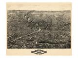 1880  Rochester 1880 Bird's Eye View  New York  United States