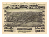 1894  Atlantic Highlands Bird's Eye View  New Jersey  United States