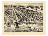 1910  Asbury Park Bird's Eye View  New Jersey  United States