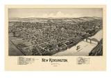 1902  New Kensington Bird's Eye View  Pennsylvania  United States