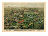 1897  Nashville Bird's Eye View of Centennial Exposition 17x24  Tennessee  United States