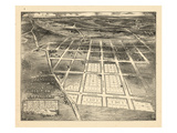 1883  Brookland Bird's Eye View  District of Columbia  United States