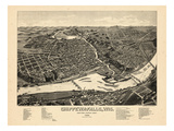 1886  Chippewa Falls Bird's Eye View  Wisconsin  United States