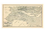 1925  Seattle Bird's Eye View  Washington  United States